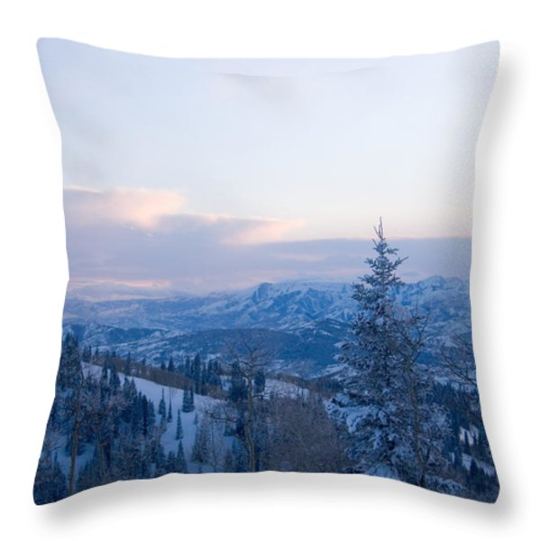 A View Out Over The Mountains Of Utah Throw Pillow by Taylor S. Kennedy