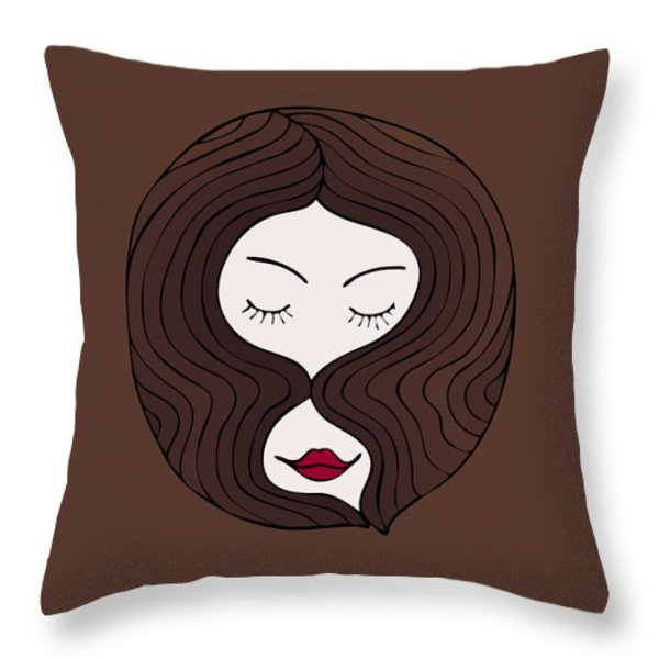 A Woman Throw Pillow by Frank Tschakert