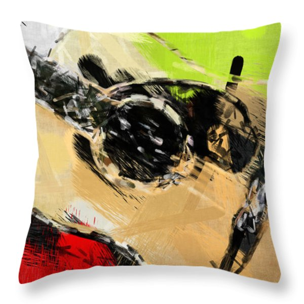 Abstract Acoustic Throw Pillow by David G Paul