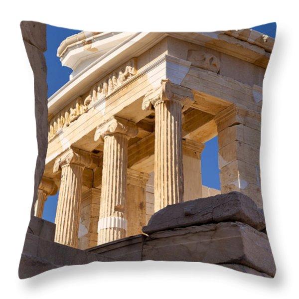Acropolis Temple Throw Pillow by Brian Jannsen