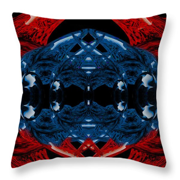 Alien Bauble Throw Pillow by Christopher Gaston