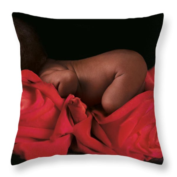 Amaya In Rose Throw Pillow by Anne Geddes