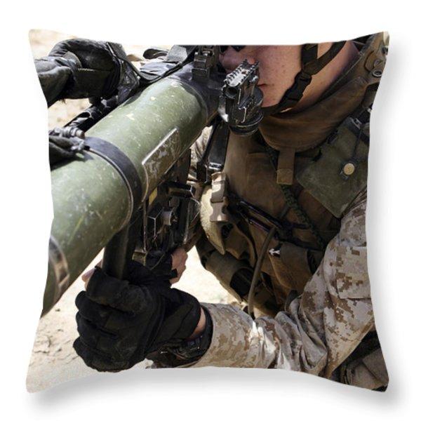 An Assaultman Handles Throw Pillow by Stocktrek Images
