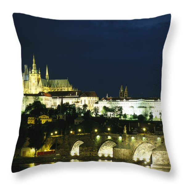 An Evening View Of The Throw Pillow by Taylor S. Kennedy