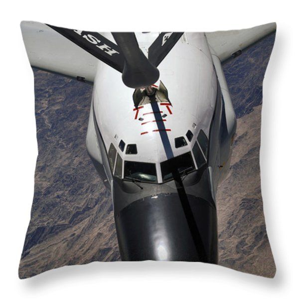 An Rc-135 Rivet Joint Reconnaissance Throw Pillow by Stocktrek Images
