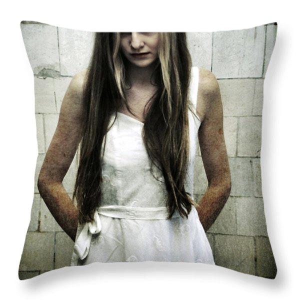 Angel Throw Pillow by Pawel Piatek