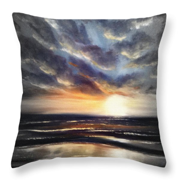 Throw Pillows - Another Sunset in Paradise 77 Throw Pillow by Gina De Gorna