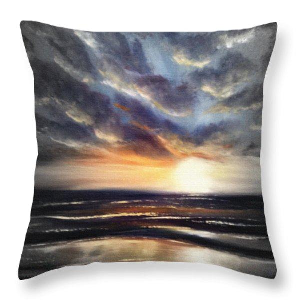 Throw Pillows - Another Sunset in Paradise 77 Throw Pillow by Gina De Gorna