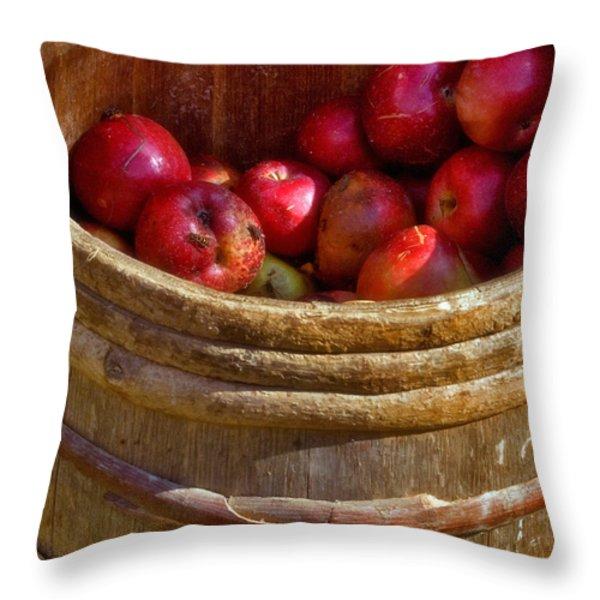 Apple Harvest Throw Pillow by Joann Vitali