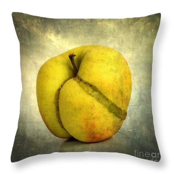 Apple Textured Throw Pillow by Bernard Jaubert