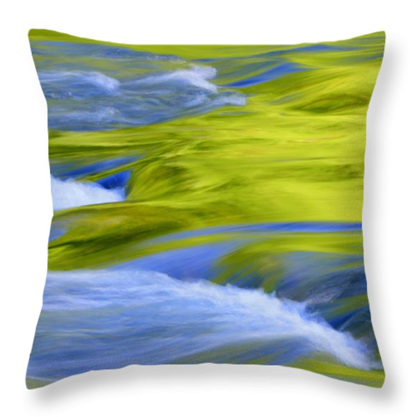 Argen River Throw Pillow by Silke Magino