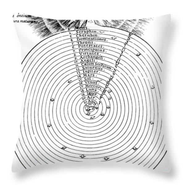 Aristotlelian And Christian Cosmologies Throw Pillow by Science Source
