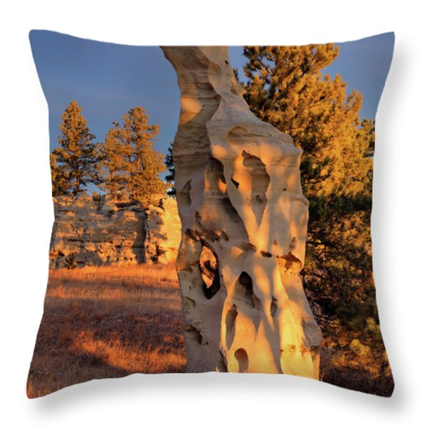 Art In Nature Throw Pillow by Leland D Howard