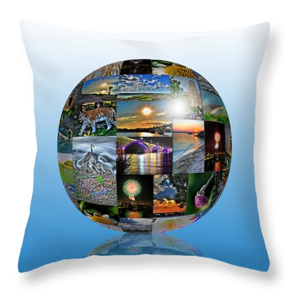 Attractions In Buffalo Ny And Surrounding Areas Throw Pillow by Michael Frank Jr