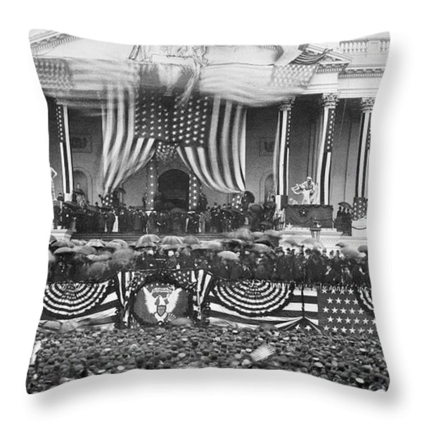 B. Harrison Inauguration Throw Pillow by Granger