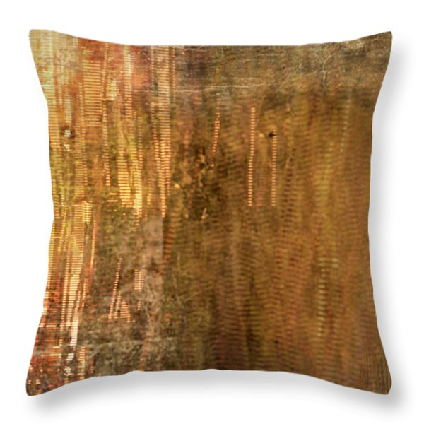 Bamboo Throw Pillow by Christopher Gaston