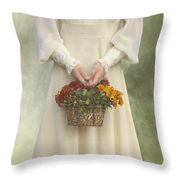 basket with flowers Throw Pillow by Joana Kruse