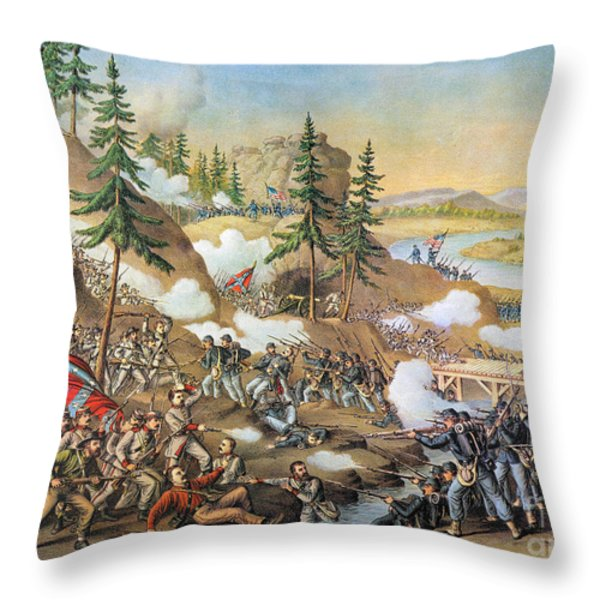 Battle Of Chattanooga 1863 Throw Pillow by Granger