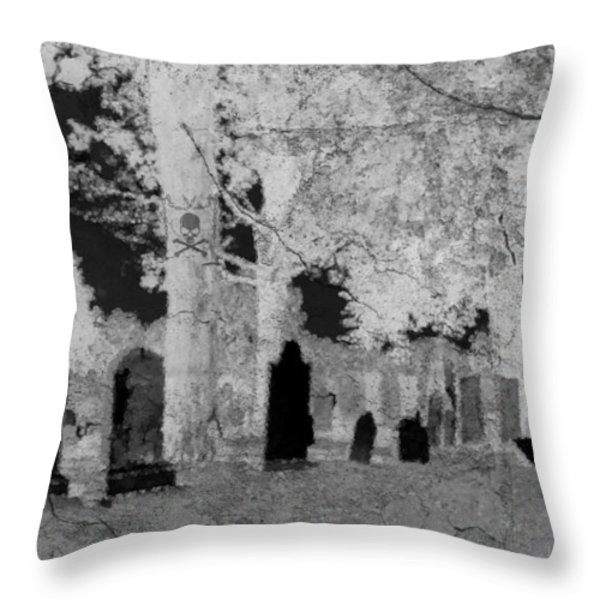 Be Afraid... Throw Pillow by Rhonda Barrett