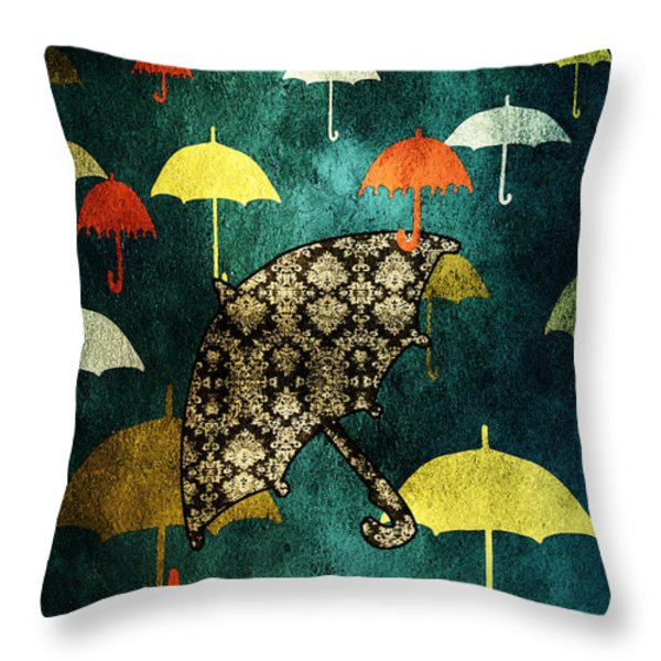 Be Yourself Throw Pillow by Bonnie Bruno