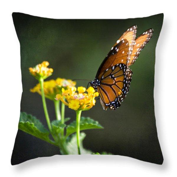 Befitting A Queen  Throw Pillow by Saija  Lehtonen