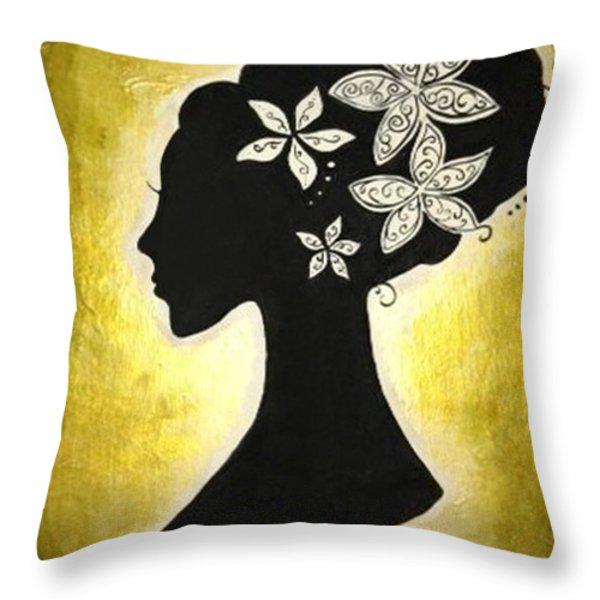 Bella Dama Throw Pillow by Brandy Nicole Clark