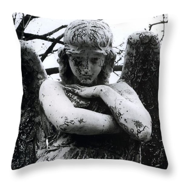 Bellefontaine Angel Throw Pillow by Jane Linders