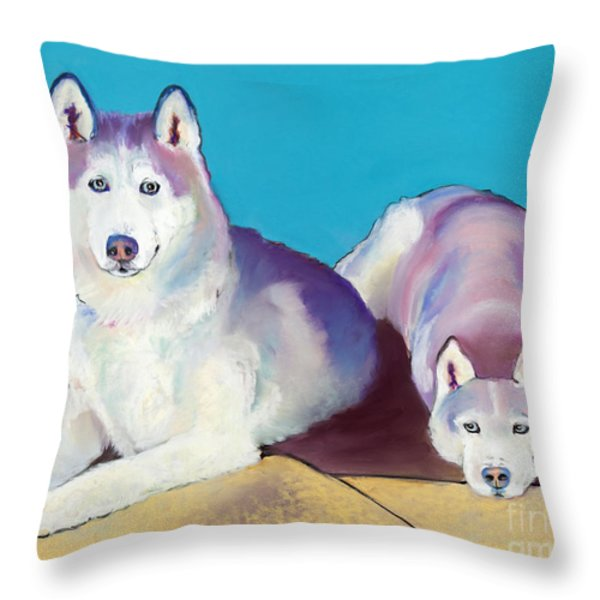 Best Buddies Throw Pillow by Pat Saunders-White