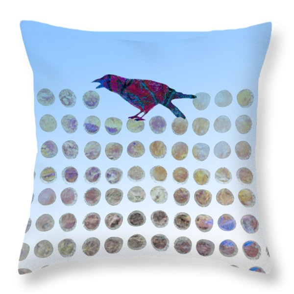 Bird Throw Pillow by Ann Powell