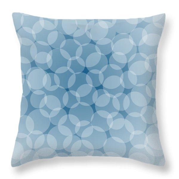 Blue Abstract Throw Pillow by Frank Tschakert