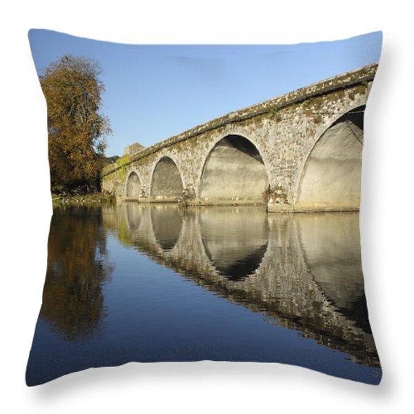 Bridge Over River Nore Bennettsbridge Throw Pillow by Trish Punch