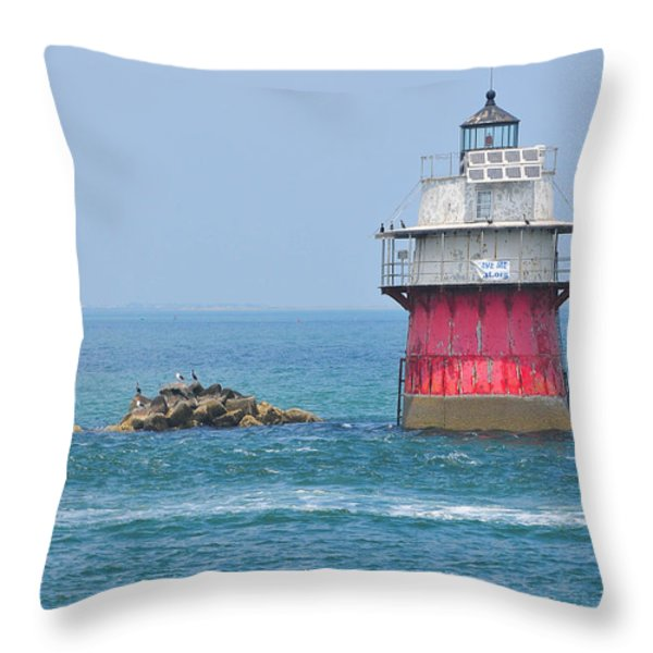 Bug Light Throw Pillow by Catherine Reusch  Daley