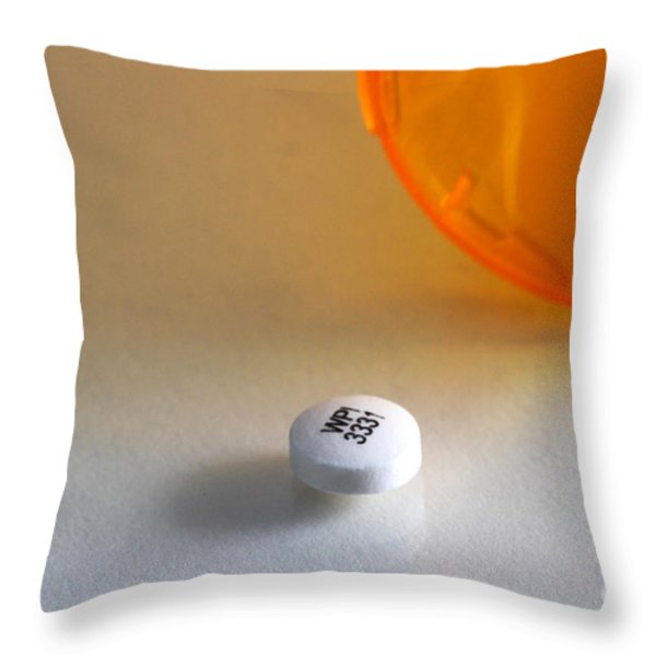 Bupropion Hydrochloride Throw Pillow by Photo Researchers, Inc.