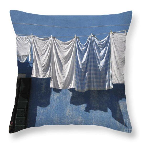 Burano island. Venice Throw Pillow by BERNARD JAUBERT