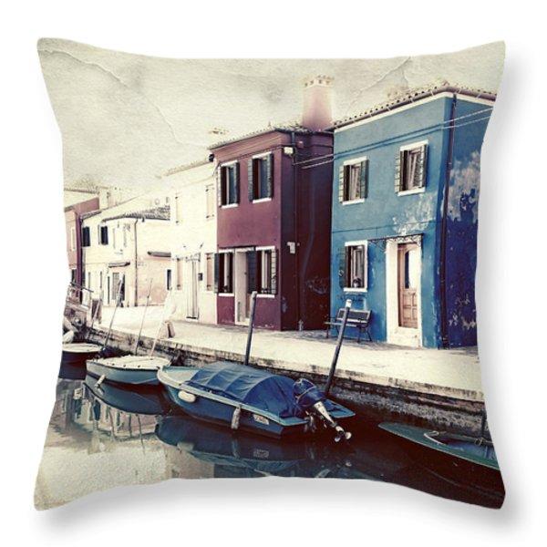 Burano Throw Pillow by Joana Kruse