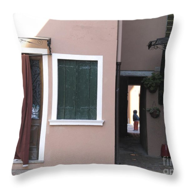 Burano.VENICE Throw Pillow by BERNARD JAUBERT