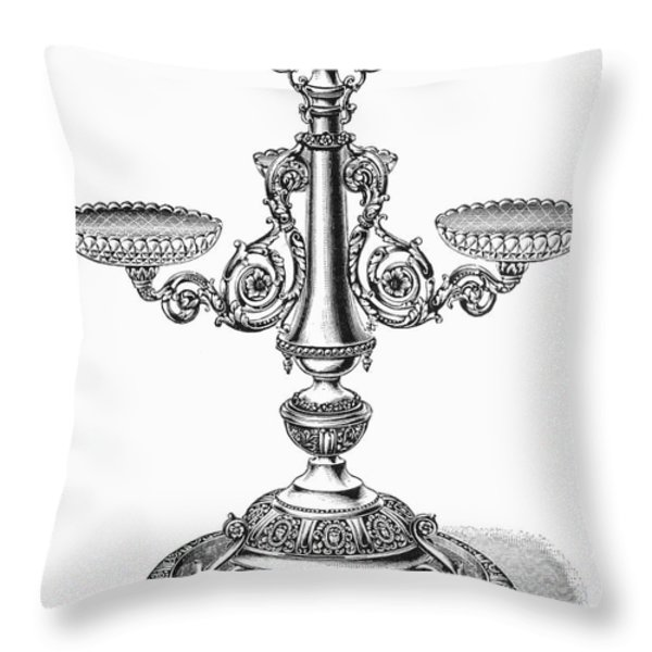 Candelabra Throw Pillow by Granger