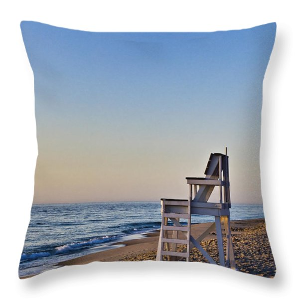 Cape Cod Lifeguard Stand Throw Pillow by John Greim