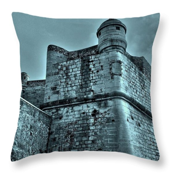 Castle Of Peniscola - Spain Throw Pillow by Juergen Weiss