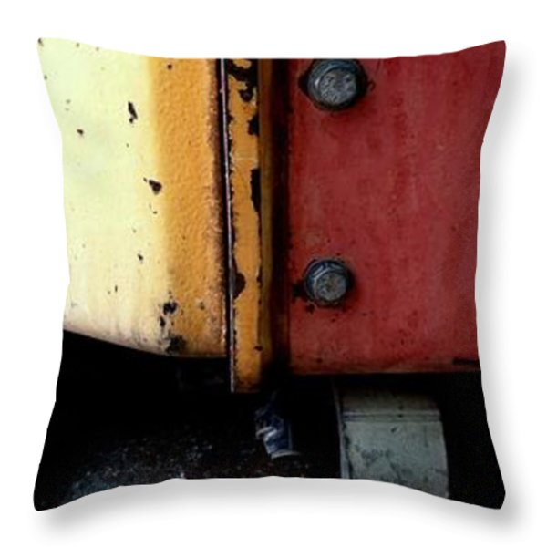 CATERPILLAR Throw Pillow by Marlene Burns