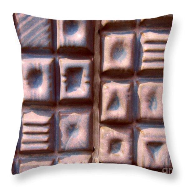 Ceramic Tiles Throw Pillow by Yali Shi