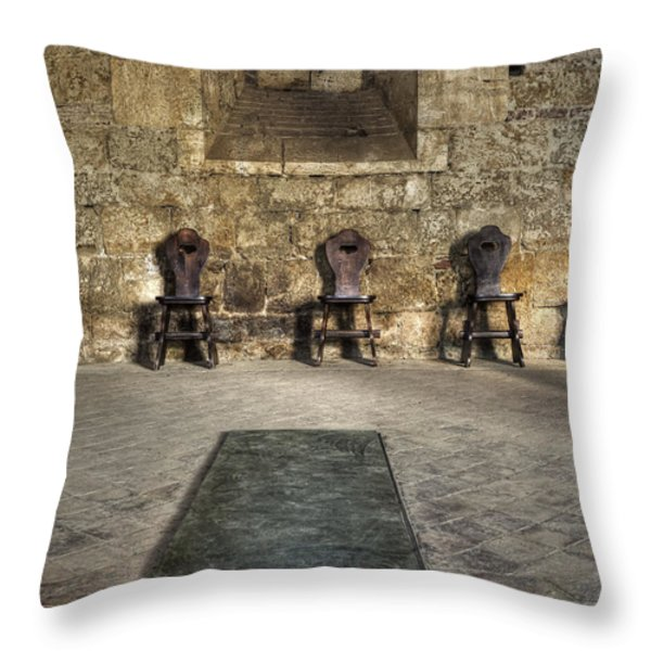 Chairs Throw Pillow by Joana Kruse