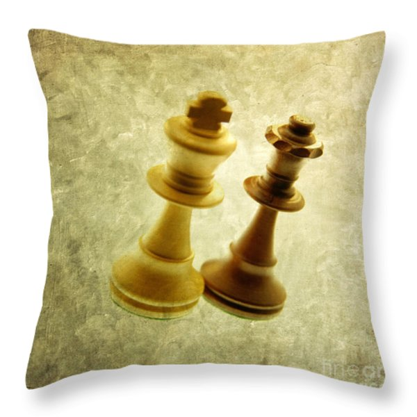 Chess pieces Throw Pillow by BERNARD JAUBERT