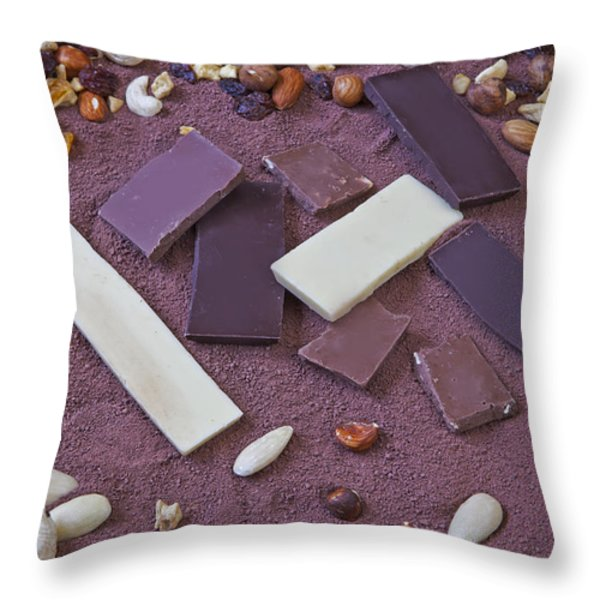 chocolate Throw Pillow by Joana Kruse