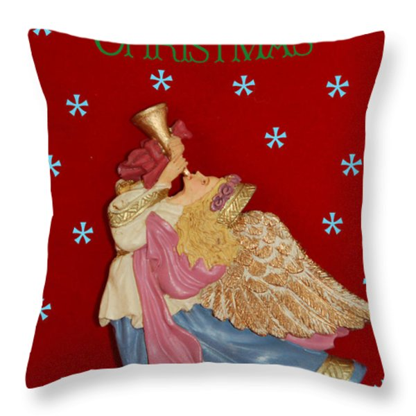 Christmas Angel Throw Pillow by Aimee L Maher Photography and Art