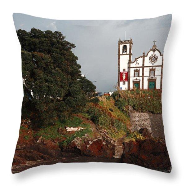Church By The Sea Throw Pillow by Gaspar Avila