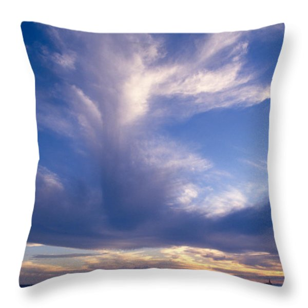 Cloud Formations Throw Pillow by Mary Van de Ven - Printscapes