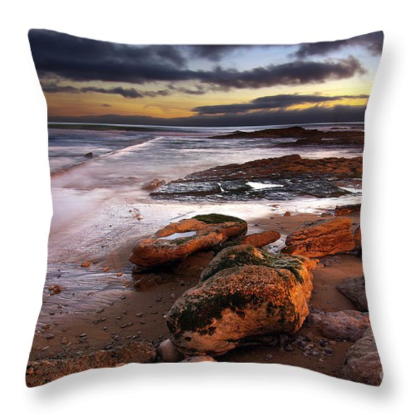 Coastline At Twilight Throw Pillow by Carlos Caetano