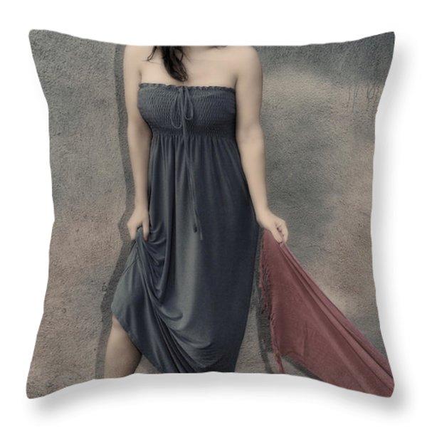 Concrete Velvet 3 Throw Pillow by Donna Blackhall