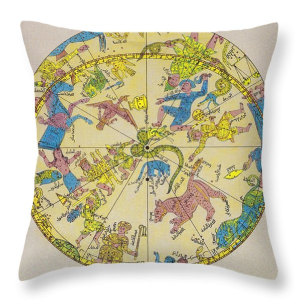 Constellations Throw Pillow by Science Source